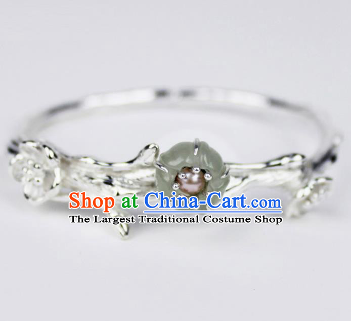 Top Grade Chinese Handmade Jewelry Accessories Hanfu Sliver Plum Blossom Bracelet for Women