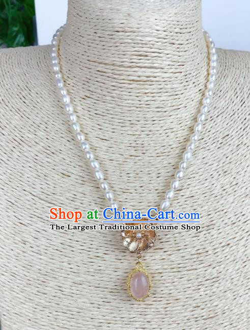 Top Grade Chinese Jewelry Accessories Wedding Pink Necklace for Women