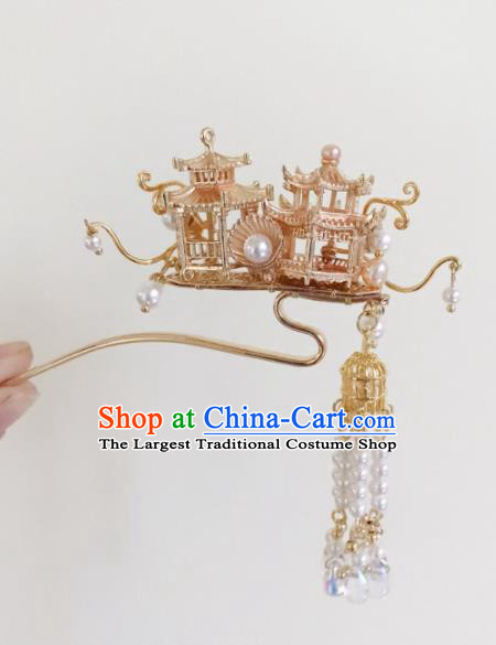 Chinese Ancient Handmade Palace Tassel Hairpins Hair Accessories Hair Clips for Women