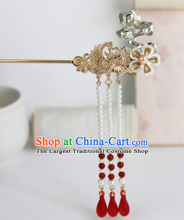 Chinese Ancient Handmade Palace Hanfu Tassel Hairpins Hair Accessories Hair Clip for Women