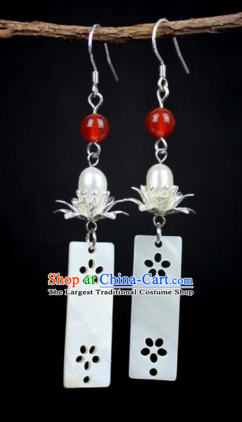 Top Grade Chinese Jewelry Accessories Wedding Hanfu Shell Earrings for Women