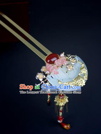 Chinese Ancient Handmade Hanfu Jade Hair Clip Hairpins Hair Accessories for Women