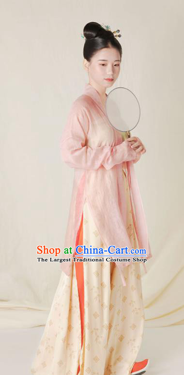 Top Grade Chinese Ancient Song Dynasty Young Lady Hanfu Dress Clothing for Women