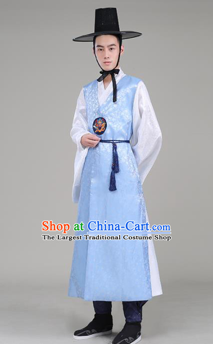 Asian Korean Traditional Costumes Korean Palace Hanbok Embroidered Clothing for Men