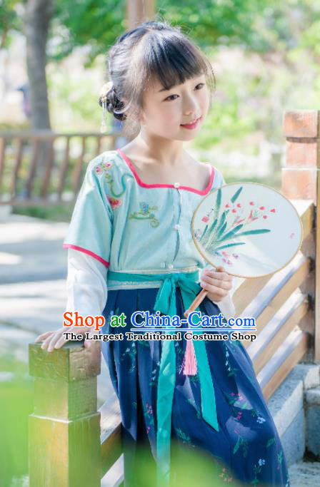 Traditional Chinese Ancient Costumes Tang Dynasty Princess Hanfu Clothing for Kids