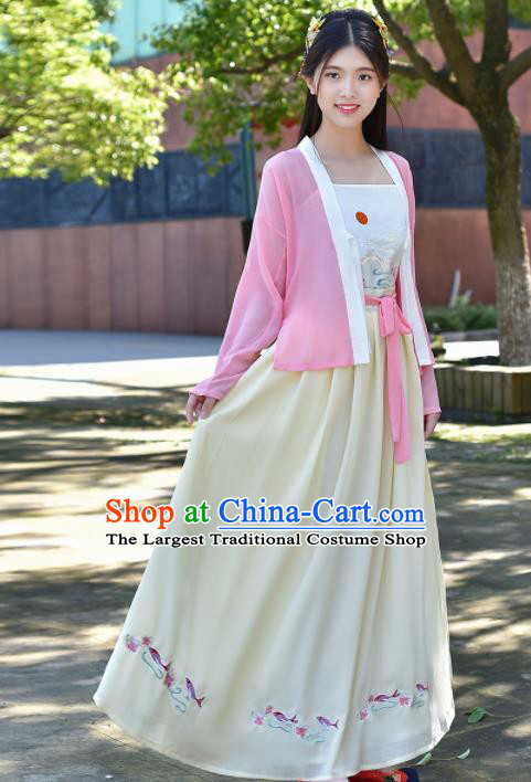 Traditional Chinese Ancient Young Lady Costumes Song Dynasty Princess Clothing for Women