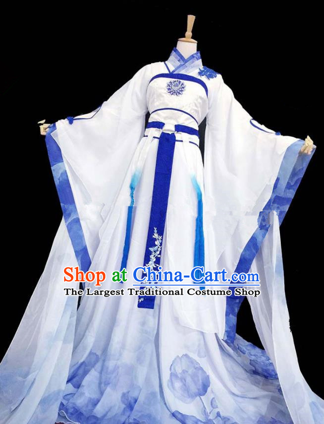 Chinese Ancient Cosplay Peri Hanfu Dress Traditional Han Dynasty Princess Costume for Women