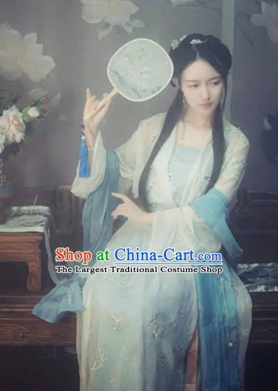 Chinese Ancient Nobility Lady Costumes Traditional Song Dynasty Princess Hanfu Dress for Women