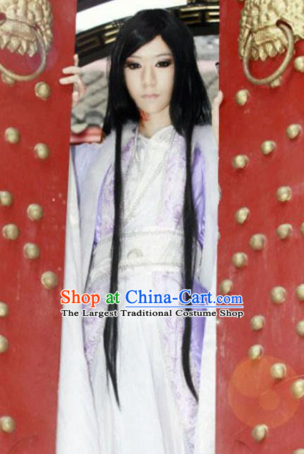 Chinese Ancient Swordsman Hanfu Clothing Han Dynasty Royal Highness Costume for Men