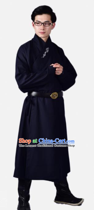 Chinese Ancient Swordsman Navy Clothing Traditional Ming Dynasty Buster Costume for Men