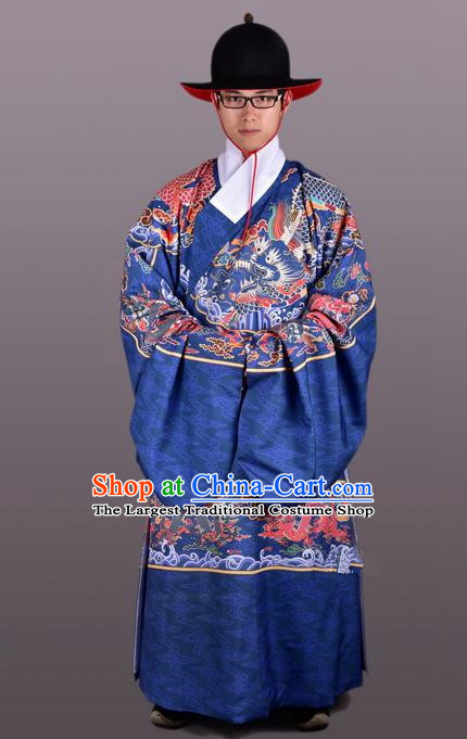 Chinese Ancient Traditional Ming Dynasty Emperor Costume Imperial Robe for Men