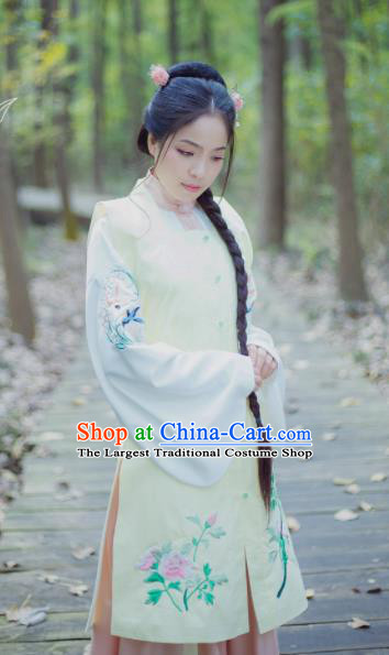 Chinese Ancient Nobility Lady Embroidered Vest Traditional Ming Dynasty Costume for Rich Women