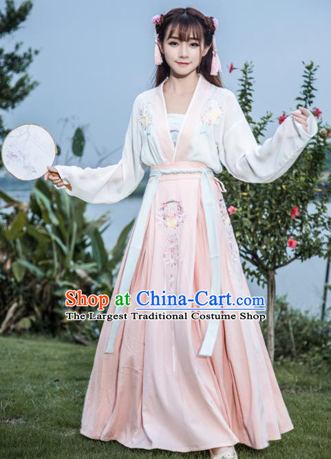 Chinese Ancient Nobility Lady Clothing Ming Dynasty Embroidered Costume for Rich Women