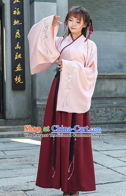 Chinese Traditional Han Dynasty Princess Costume Ancient Hanfu Dress for Rich Women