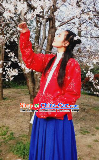 Traditional Chinese Ming Dynasty Nobility Lady Costume Ancient Embroidered Hanfu Dress for Women