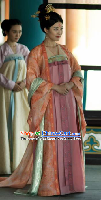 Ancient Chinese Tang Dynasty Imperial Consort Hanfu Dress The Rise of Phoenixes Palace Lady Costume for Women