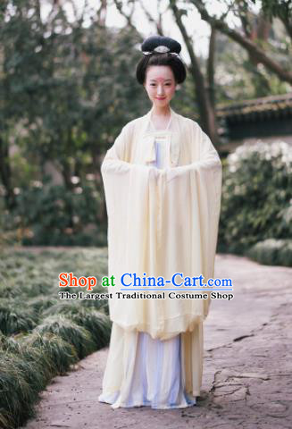 Traditional Chinese Tang Dynasty Imperial Consort Costume Ancient Maidenform Hanfu Dress for Women