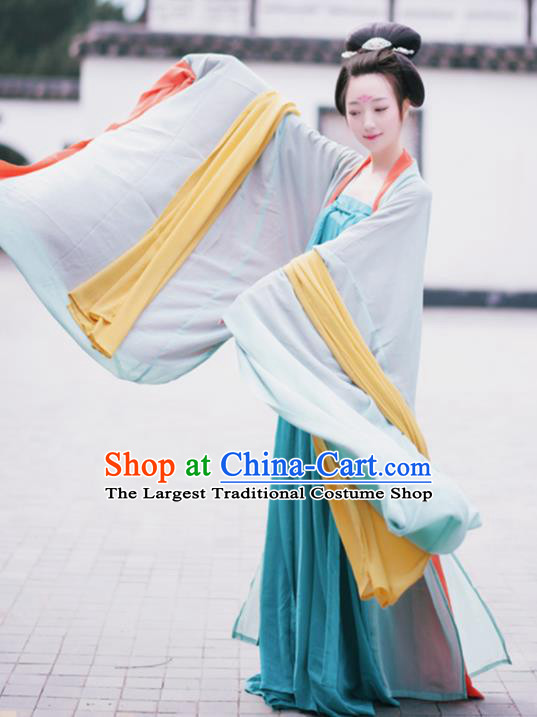 Traditional Chinese Tang Dynasty Imperial Consort Costume Ancient Palace Maidenform Hanfu Dress for Women