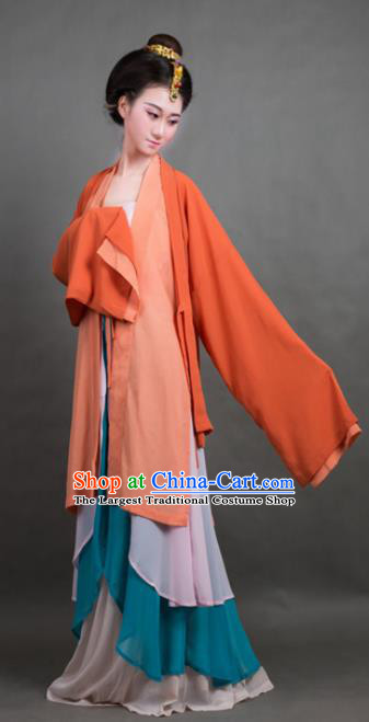 Traditional Chinese Song Dynasty Young Lady Costume Ancient Hanfu Dress for Poor Women