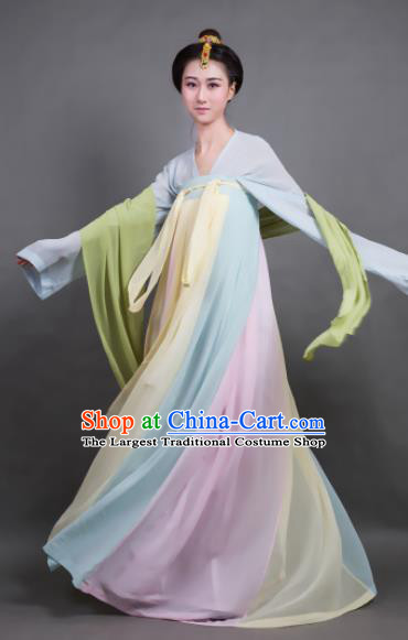Traditional Chinese Tang Dynasty Maidenform Hanfu Dress Ancient Palace Princess Costume for Women