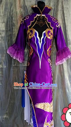 Asian Chinese Cosplay Peri Costume Ancient Swordswoman Dress for Women