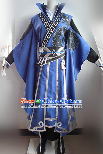 Asian Chinese Cosplay Nobility Childe Costume Ancient Swordsman Clothing for Men