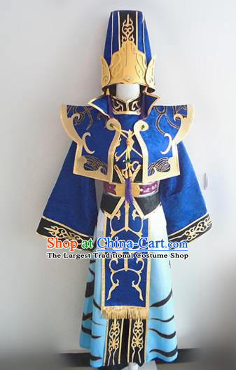 Asian Chinese Cosplay Nobility Childe Costume Ancient Taoist Swordsman Clothing for Men