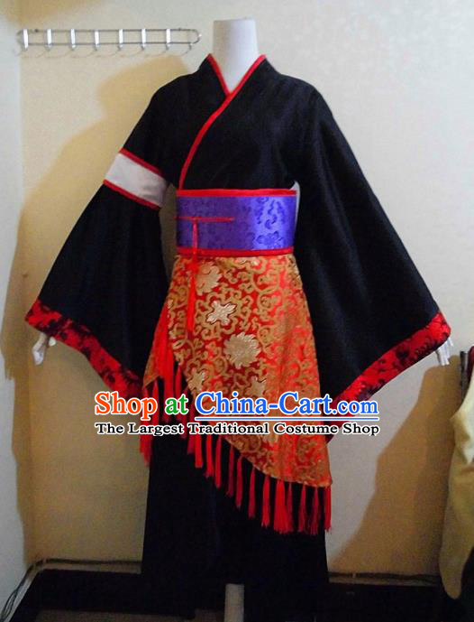 Asian Chinese Cosplay Royal Highness Customized Costume Ancient Swordsman Black Robe for Men