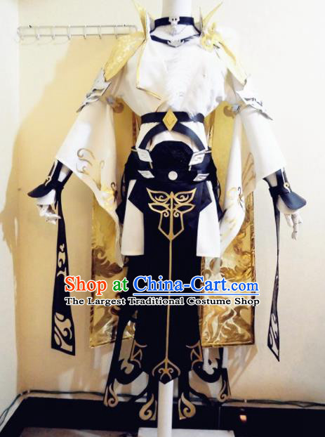 Asian Chinese Cosplay Female Castellan Swordsman Costume Ancient Young Lady Clothing for Women
