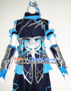 Asian Chinese Cosplay Female Warrior Costume Ancient Swordsman Clothing for Women
