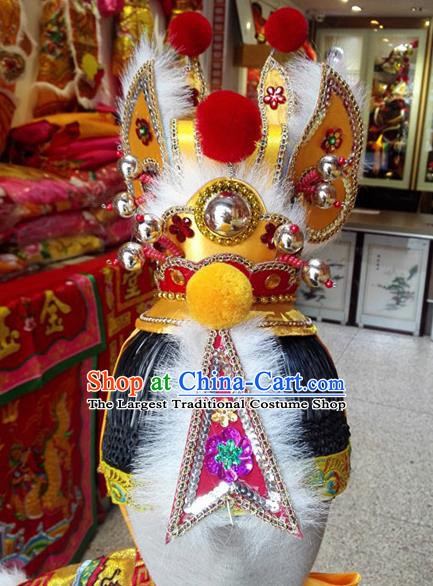 Traditional Chinese Beijing Opera Hair Accessories Prince Hairdo Crown Headwear for Men