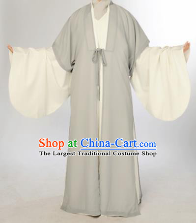 Chinese Traditional Zhou Dynasty Scholar Costumes Ancient Minister Robe for Men