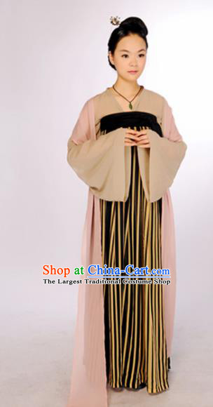 Traditional Chinese Tang Dynasty Hostess Costume Ancient Hanfu Dress for Women