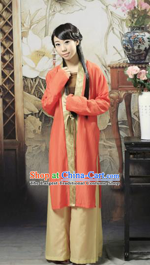 Traditional Chinese Song Dynasty Young Lady Hanfu Dress Ancient Princess Costume for Women