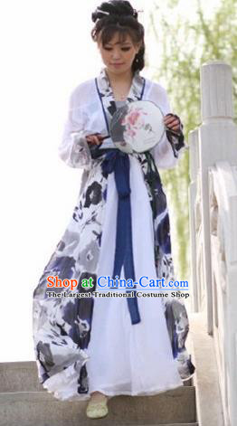 Traditional Chinese Song Dynasty Nobility Lady Clothing Ancient Maidenform Costume for Women