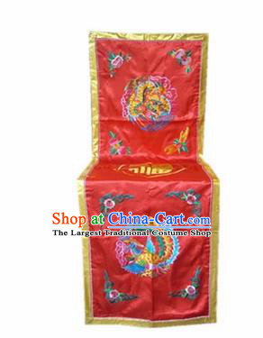 Traditional Chinese Beijing Opera Props Flag Embroidered Chair Cover Banner