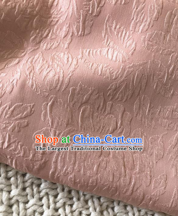Asian Chinese Traditional Fabric Classical Pattern Pink Brocade Cloth Silk Fabric