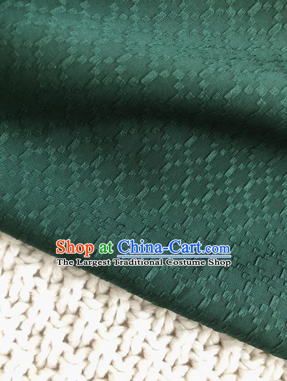 Asian Chinese Traditional Fabric Classical Pattern Atrovirens Brocade Cheongsam Cloth Silk Fabric
