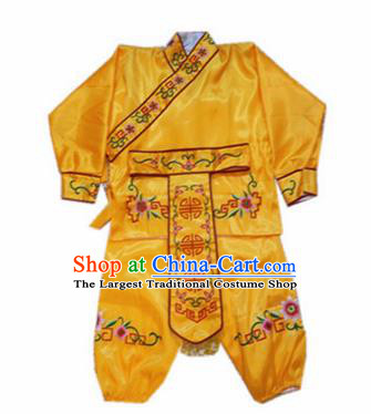 Traditional Chinese Beijing Opera Diva Costume Swordswoman Embroidered Yellow Clothing for Adults