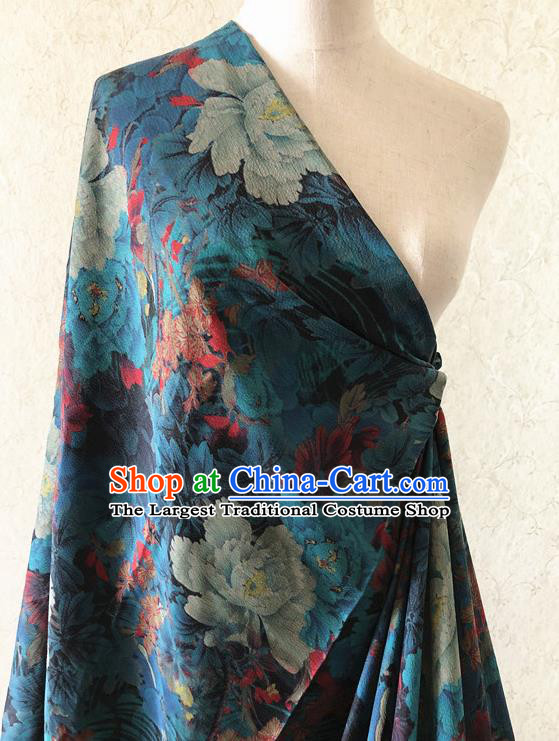 Asian Chinese Traditional Fabric Classical Printing Pattern Brocade Cheongsam Cloth Silk Fabric