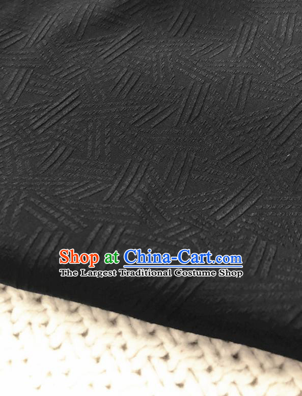 Asian Chinese Traditional Fabric Classical Pattern Black Brocade Cloth Silk Fabric