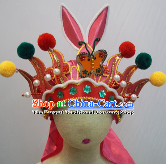 Traditional Chinese Beijing Opera Hat Hair Accessories Female General Headwear for Kids