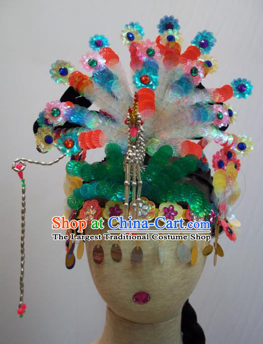 Traditional Chinese Beijing Opera Diva Hair Accessories Peri Princess Headwear for Kids