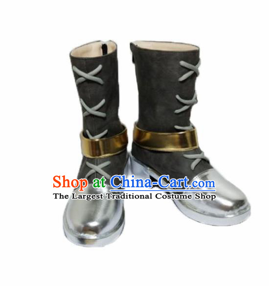 Asian Chinese Cosplay Shoes Cartoon Cowboy Boots for Men