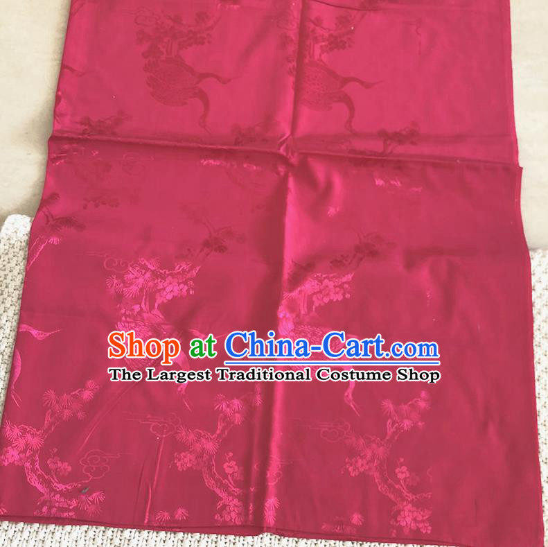 Asian Chinese Traditional Fabric Swan Pattern Rosy Brocade