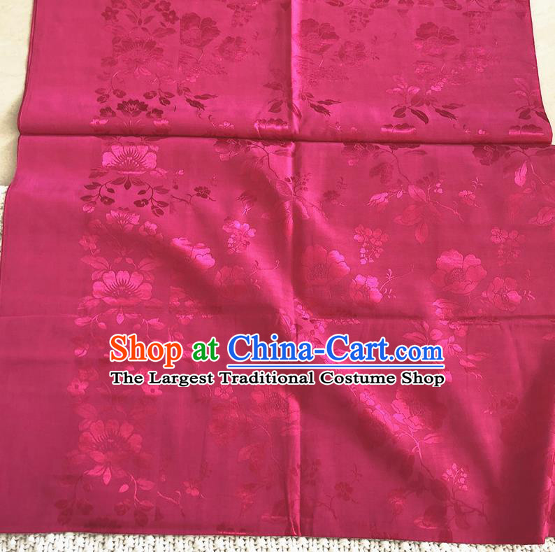 Asian Chinese Traditional Fabric Palace Pattern Rosy Brocade Cloth Silk Fabric
