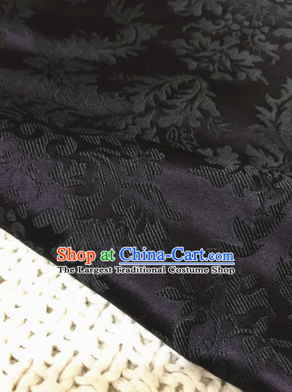 Asian Chinese Traditional Purple Silk Fabric Royal Pattern Brocade Cheongsam Cloth Silk Fabric