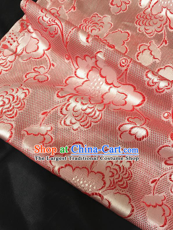Asian Chinese Traditional Red Silk Fabric Royal Pattern Brocade Cheongsam Cloth Silk Fabric