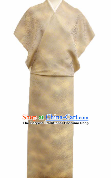 Asian Chinese Traditional Golden Silk Fabric Royal Pattern Kimono Brocade Cheongsam Cloth Silk Fabric