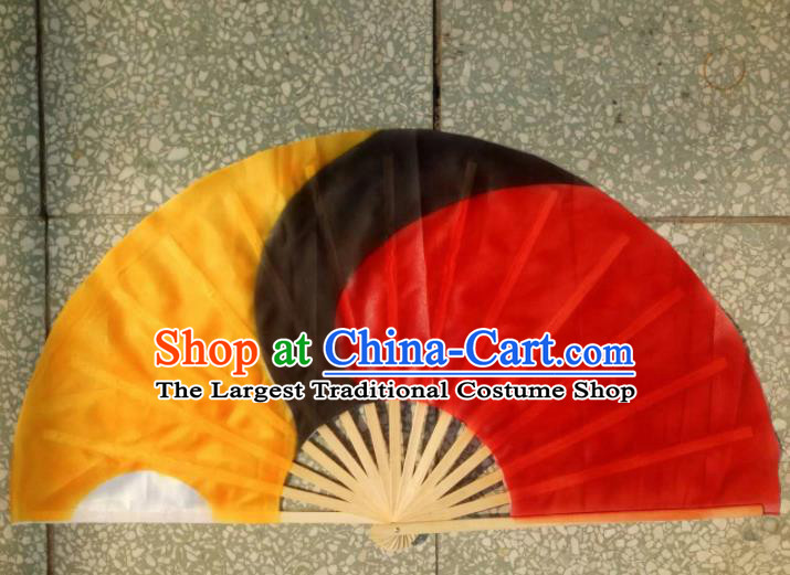 Traditional Chinese Crafts Folding Fan China Folk Dance Fans Red Tai Chi Fans